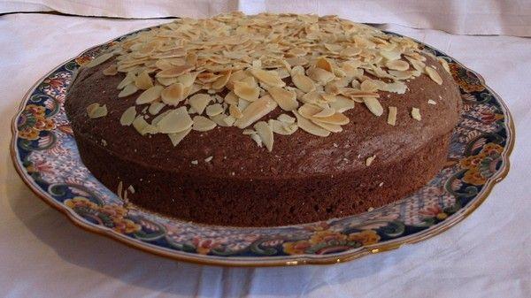 Gâteau au chocolat et amandes
