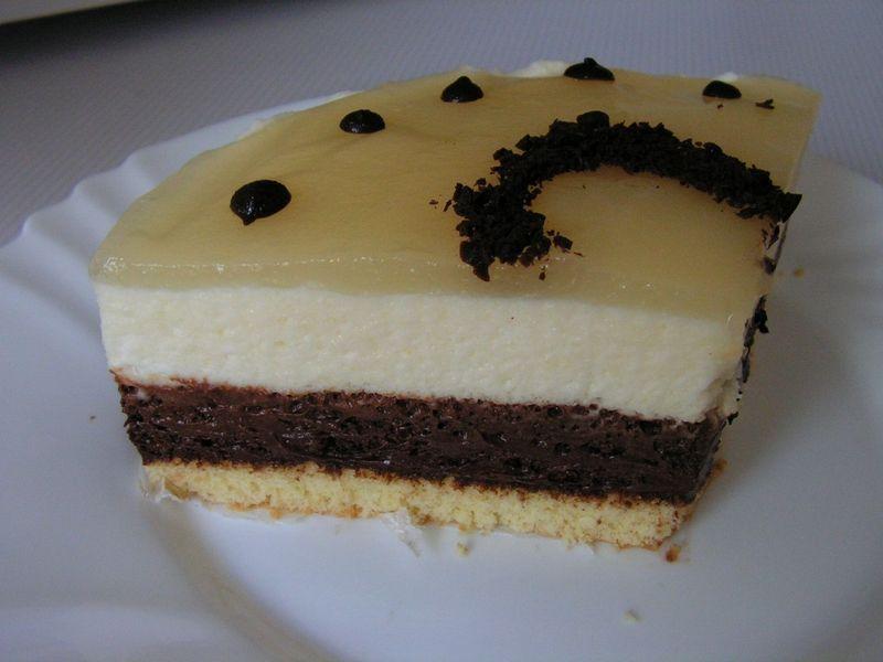 Bavarois poire chocolat for Miroir de sucre